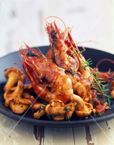 Provençal-style sauteed shrimps