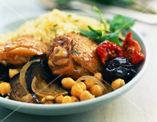 Chicken,vegetable ans prune Tajine