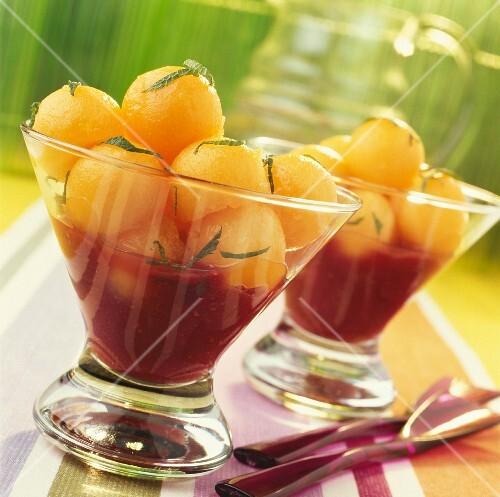 Melon and summer fruit salad