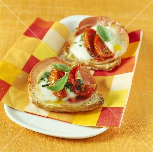 Italian-style hot open sandwiches