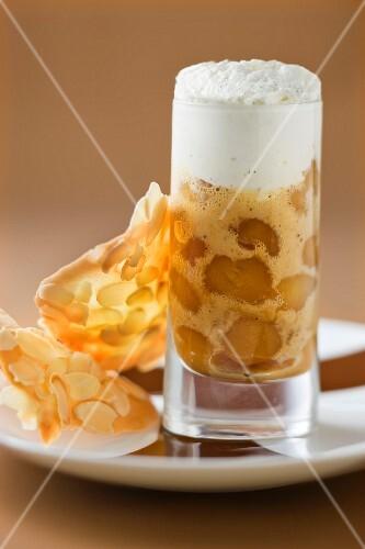 Apple Tatin tart cappuccino
