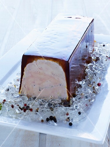 Foie gras and aspic terrine