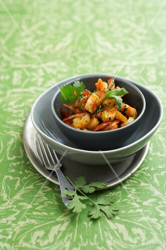 Sauteed shrimps