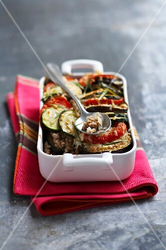 Veal and southern vegetable gratin