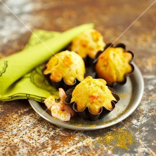 Shrimp and curry Madeleines
