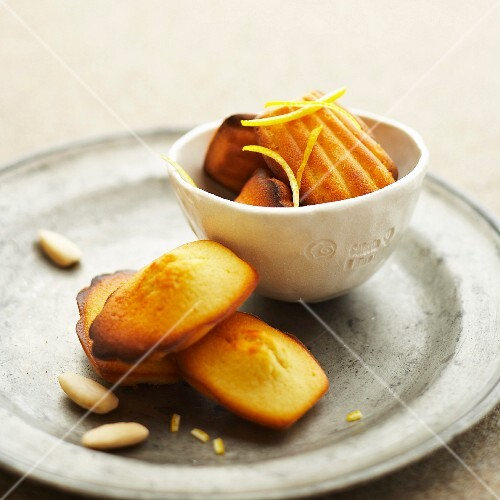 Ricotta and almond Madeleines