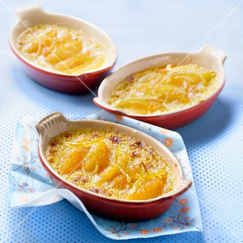 Grapefruit and lemon zest gratin