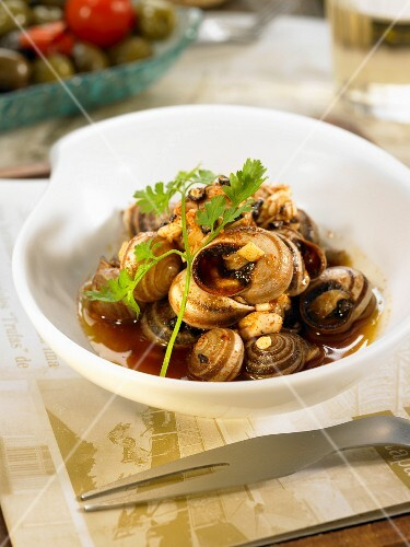 Snails with garlic
