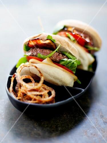 Homemade bacon hamburger