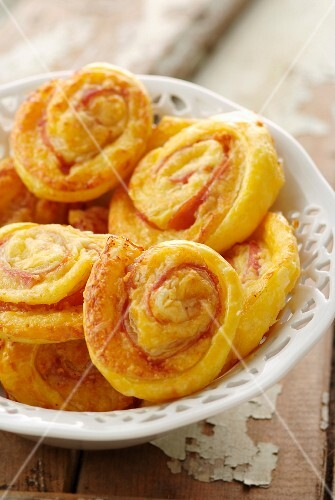 Ham and cheese flaky pastry rolls