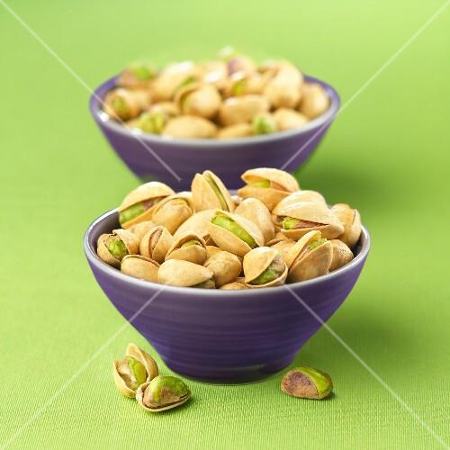 Bowls of pistachios