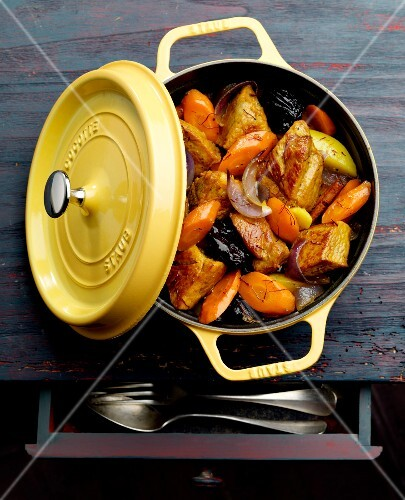 Pork,carrot and prune casserole
