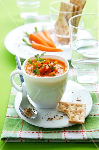 Carrot and cumin soup