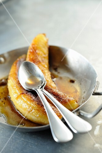 West Indian Banana Flambe with vintage rum