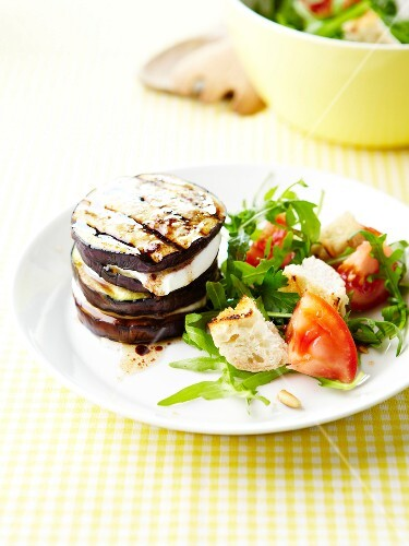 Eggplant and goat's cheese Mille-feuille