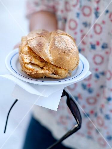 Salt-cod sandwich