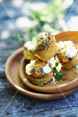 Ratatouille and feta savoury cupcakes