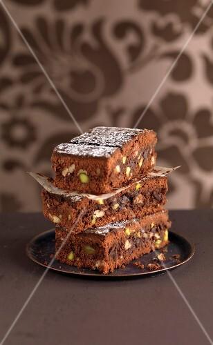 Pistachio brownies