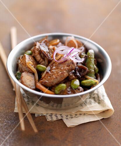 Thai-style pork sauté