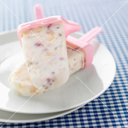 Homemade ice cream bars