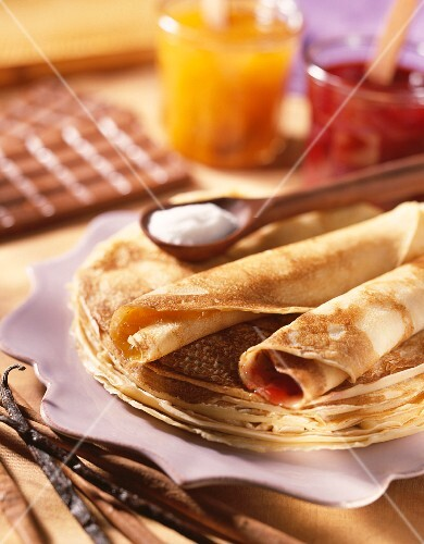 Crepes with jam