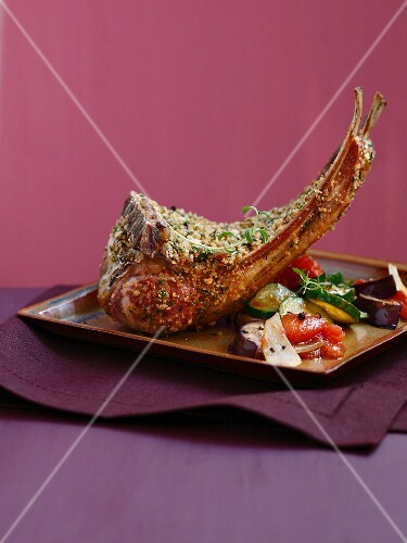 Loin of lamb in herb crust