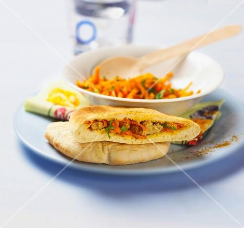 Oriental carrot sandwich