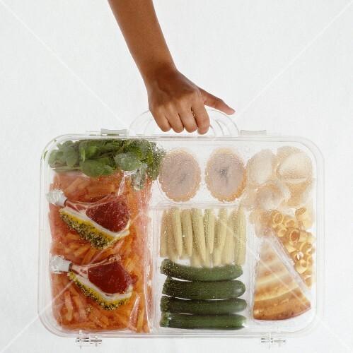 Transparent lunch box