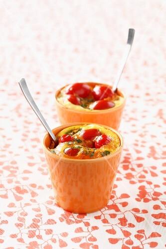 Cherry tomato savoury clafoutis