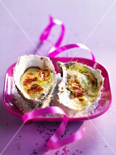 Oysters with zabaglione