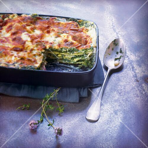 Spinach lasagnes