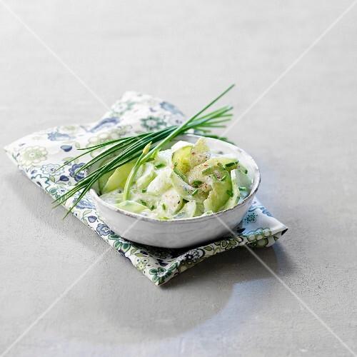 Gurkensalat mit Sahnesauce