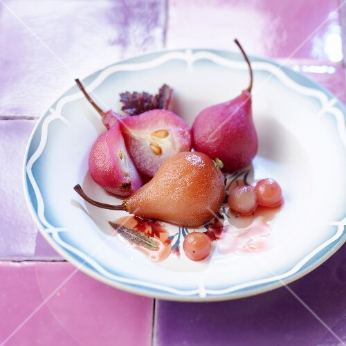 Pear-blackcurrants with cith citronella