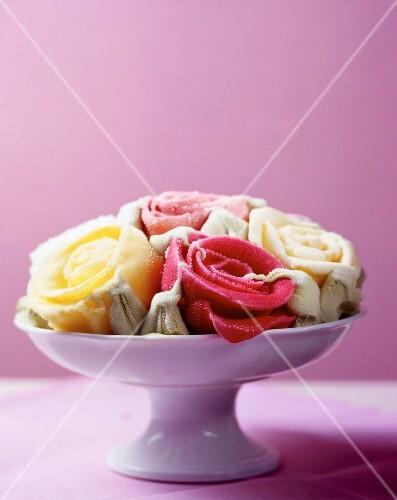 Rose-shaped sorbets