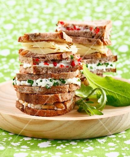 Fancy cheese sandwiches
