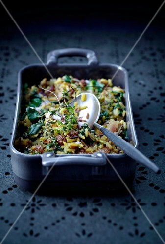 Sautted rice and spinach