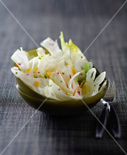 Fennel salad with orange and olive oil