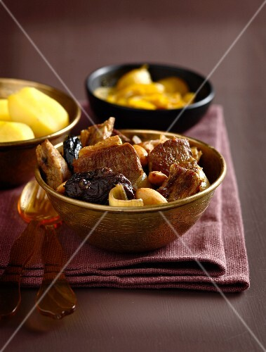 Lamb Tajine with potatoes and stewed onions
