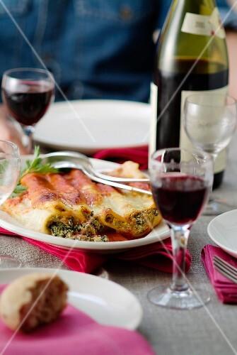 Ricotta -spinach cannelloni