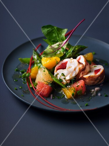 Lobster and citrus fruit salad
