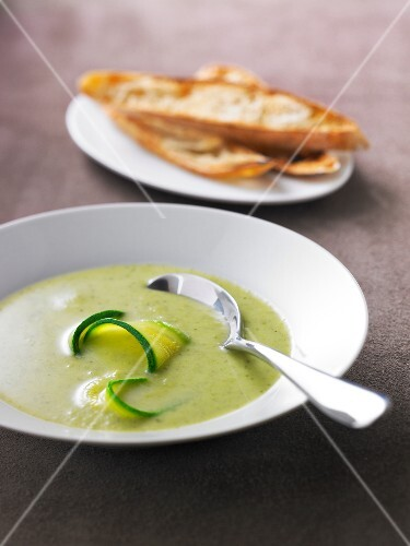 Cream of zucchini soup