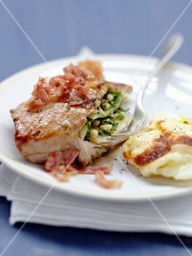 Grilled stuffed pork