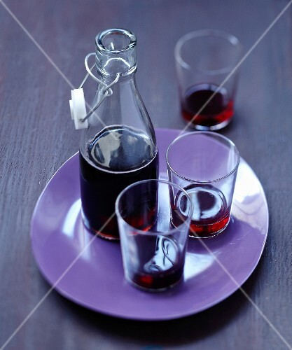 Licorice-flavored blackcurrant syrup