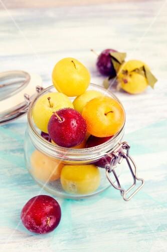 Jar of plums