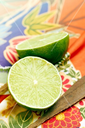 Lime cut in half