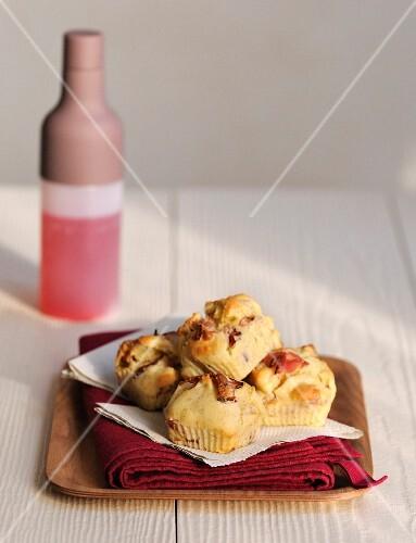 Raw ham and ricotta savoury muffins