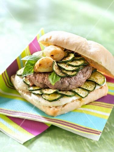 Italian-style burger