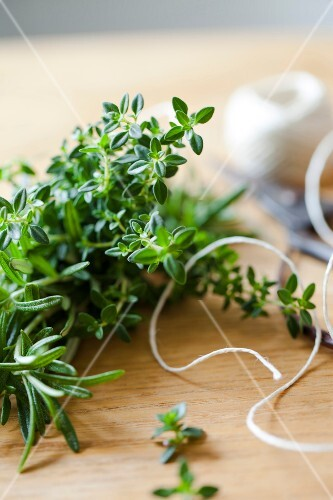 Fresh thyme and rosemary