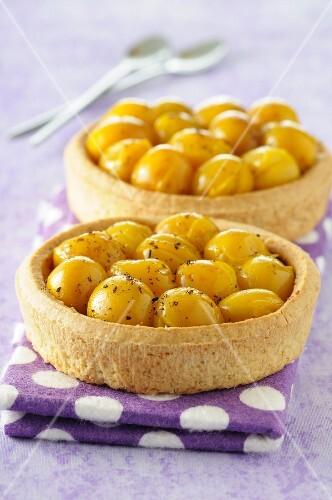 Mirabelle plum tartlets