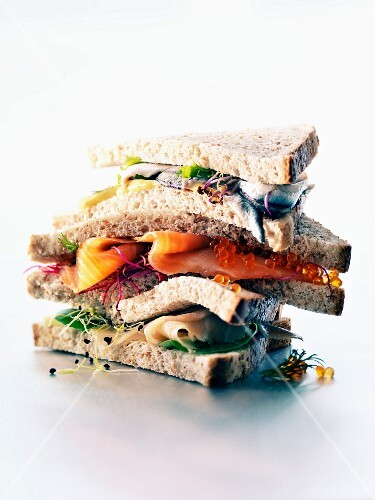 Giant seafood sandwich